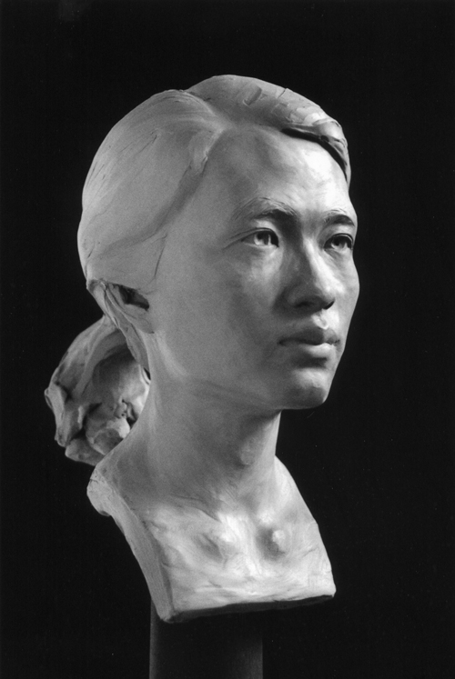 Portrait Sculpture of a Woman by and © Gerald P. York