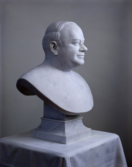 Marble Portrait Sculpture of Sydney L. Mayer by and © Gerald P. York