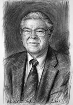 Soft Vine Charcoal Drawing of Howard R. Lamar  					by and © Gerald P. York