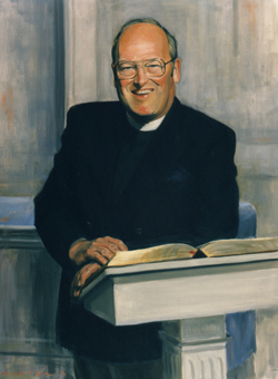 Oil Portrait Painting of the Rev. James E. Annand by and © Gerald P. York