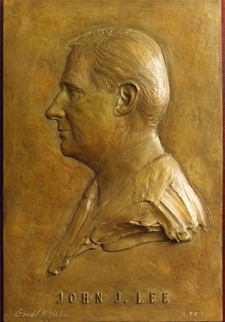 Bronze Relief Portrait Sculpture of John Lee by and © Gerald P. York