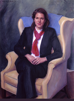 Oil portrait painting of Kerry Robinson by and © Gerald P. York