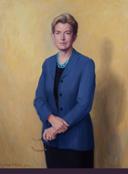 oil portrait painting of former dean of yale college by and © Gerald P. York