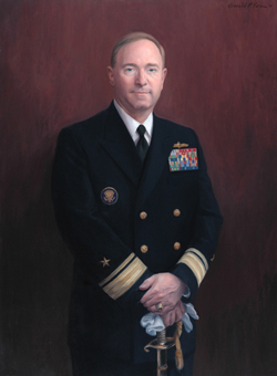 Portrait Painting of Vice Admiral Phil Wisecup  					by and © Gerald P. York