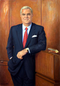 oil portrait painting of former chair of Yale New Haven Health Systems by and © Gerald P. York